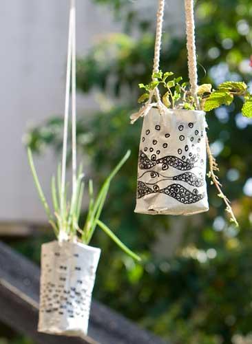 horta jardim na varanda:Horta-Jardim na varanda – (4) Escolher e reciclar materiais
