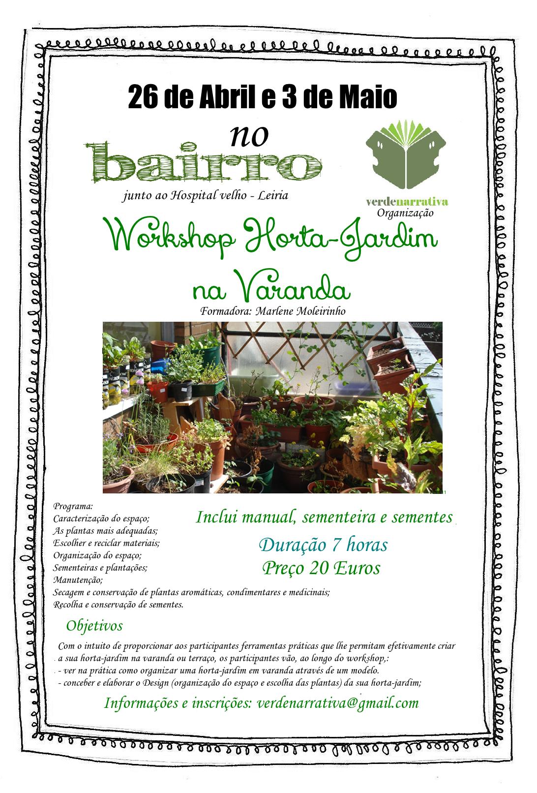 horta jardim na varanda:Workshop Horta-Jardim na varanda – Leiria